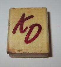 KD Initials Rubber Stamp Names Wood Mounted Uptown