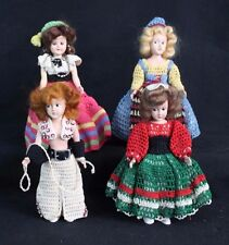 "7"" Rare Antique Vintage Hard Plastic Collectible Dolls Handmade Custom Clothing"