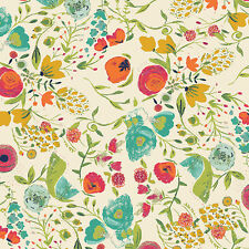 Art Gallery ~ Budquette Abloom Fabric / quilting yellow floral cream dressmaking