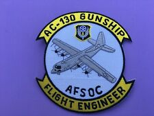 USAF LOCKHEED AC-130 GUNSHIP AFSOC FLIGHT ENGINEER PATCH MEASURES 5 X 4 1/4 INCH