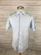 Men's ROCKPORT Shirt - Large - Blue Check - Short Sleeved - Great Condition