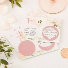 Truth or Dare Scratch Cards Hen Party Game Team Bride Rose Gold Bridal Shower
