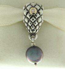Authentic Pandora 790547D Grapes Bunch Diamond & 14K Gold & Silver Bead Charm