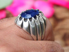 antik orient silber Afghanistan sapphire statement  ring Nr:17/459