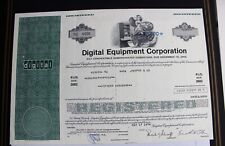 Digital Equipment Corporation 1978 alte USA Aktie Stock Certificate 15000 Dollar