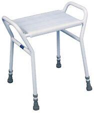 Aidapt STROOD Sgabello regolabile in altezza per doccia in acciaio 560-690x515x420 mm Bianco