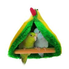 Parrot Hammock Plush Birds Nest Pet Triangle Warm Hanging Bed Cage Cave Hut Tent