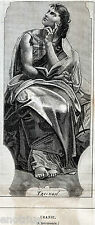 MUSE:URANIA:L'ASTRONOMIA.Mitologia:Figlia di Zeus e Mnemosine.Stampa Antica.1874