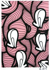 INSA Heels Pink Inverted 2011 art print poster striped legs graffiti futura hot