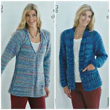 Knitting Pattern 4256 Ladies Cardigan & Waistcoat in King Cole Drifter DK Yarn
