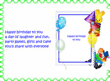 30  Assorted  young childs birthday card verse inserts  A6