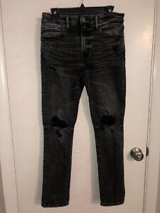EUC AMERICAN EAGLE OUTFITTERS Next Level Flex Slim Black Jeans Men's Size 31x32