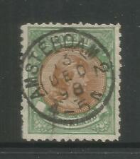 NETHERLANDS – 1896 – WILHELMINA – 50 CENTS, EMERALD+BROWN - Scott #51 – USED