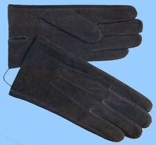 NEW MENS size 8.5 or Med DARK BLUE PIG SUEDE LEATHER UNLINED GLOVES shade10534