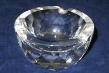"Swarovski Ashtray Figurine, Multi Faceted, 3 7/8"" Across by 2"" Tall"