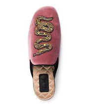 Women's Pink Lawrence Crystal Snake Mule