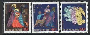 MINT 1985 NEW ZEALAND NZ CHRISTMAS XMAS STAMP SET OF 3