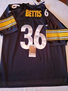 JEROME BETTIS signed STEELERS custom jersey JSA COA SIZE XXL