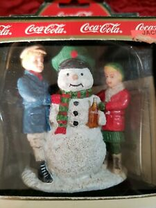 """Coca-Cola Town Square Christmas Village Collection """"Thirsty the Snowman"""" 7950"""