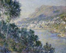Monte Carlo seen from Roquebrune Claude Monet Art CANVAS Print HQ Decor 8x10
