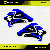 Blue SHIFT Racing Shroud Graphic Kit fits Suzuki DRZ125 01-07 DRZ 125 Graphics