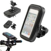 Motorcycle Bicycle Bike Holdebar Mount Holder Waterproof Bag Case for Cell Phone