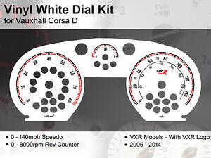 Vauxhall Corsa D (2006 - 2014) - 140mph / 8000rpm VXR - Vinyl White Dial Kit