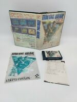 METAL GEAR MSX MSX2 Game Cartridge Including Manual & Leaflet - Complete