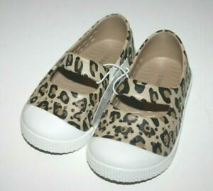 Old Navy Toddler Baby Girls Cheetah Print Shoes Size 6, 7 Slip On Perforated NWT