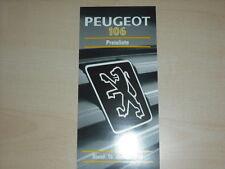 61712) Peugeot 106 Preise & Extras Prospekt 01/1994