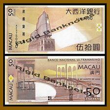 Macao 50 Patacas, 2009 P-81B BNU Unc