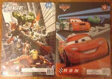 Lot Of 2 Disney Pixar Cars & Marvel Avengers Puzzles 16ct.