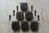 Vintage Cast Iron handmade cabinet drawer door handles pull rustic Knobs 6 pcs