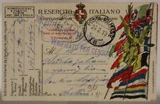 POSTA MILITARE 18 BATTERIA OBICI PESANTI CAMPALI 26.2.1919 #XP344E