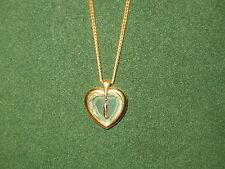 "STAR CRYSTAL *NEW* Pendentif Coeur Lettre ""I"" chaîne dorée Pendant crystal/gold"