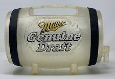 Vintage MGD Miller Genuine Draft 64oz Plastic Mini Beer Keg Barrel w/ Spout Tap