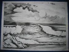 * Tri Chem 2932 Seascape Ocean Seagull Picture Trichem
