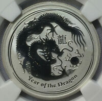 2012-P S50¢ Australia Lunar Series Year of the Dragon NGC MS70 PERFECTION