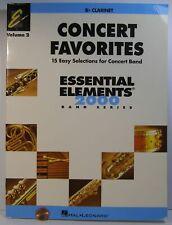 Hal Leonard Concert Favorites Essential Elements 2000 Vol.2 Bb Clarinet