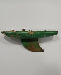 Vintage Wooden Green Sailboat Star Yacht Birkenhead SY2 Pond Boat Made  England