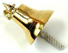 "6"" Polished Brass Fire Bell ~ Fireman Alarm Ships Bell"
