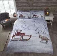 Husky And Sleigh Christmas Duvet Set Double CHEAPEST ON EBAY