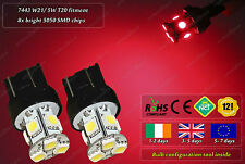 2x LED T20 580 W21/ 5W 7443 Xenon Red Stop Bulbs Tail Lights Rear Lamps 12v Car