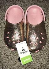 Disney Parks Crocs Rose Gold - Mickey Classic 2 Glitter Womens 6 Mens 4 M4/W6