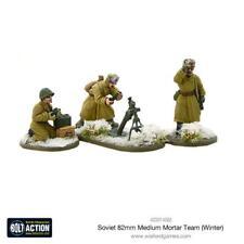 Ejército soviético 82 mm Mediano mortero equipo (invierno) - Warlord Games-Bolt Action