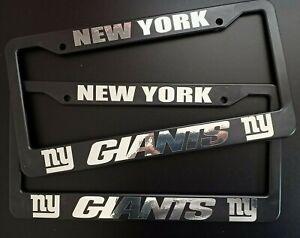 - SET of 2 - NY Giants Black Plastic License Plate Frame Truck Car Van New York