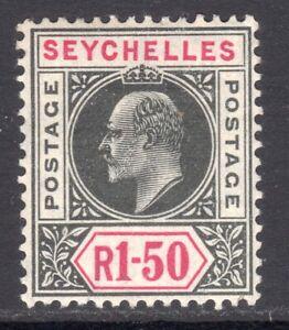 SEYCHELLES 1906 KEVII 1r50c wmk MCA M, SG 69 cat £60