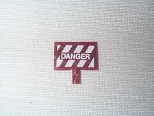 Lionel 69 Danger / Safety First Sign for Motorized Maintenance Car NOS!