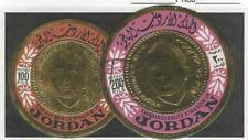 Jordan, Postage Stamp, #536c-536d Used, 1967 Golf Foil