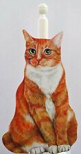 Ginger & White Cat Kitchen Roll / Toilet Roll Holder - C15